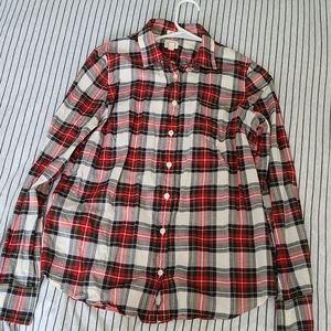 J. CREW Women's Plaid Shirt Medium